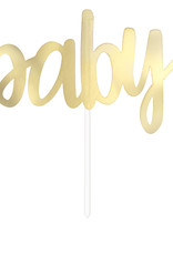 Gold 'Baby' Cake Topper