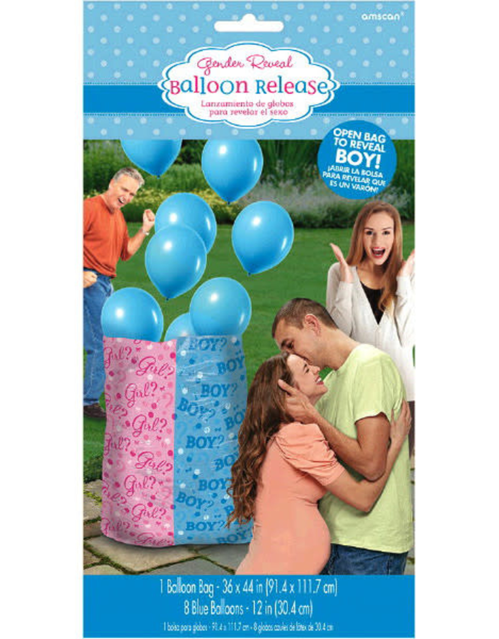 Boy Blue Gender Balloon Release Kit (Includes Helium)