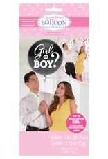 "Gender Reveal Latex Balloon 24"" - Pink Confetti"