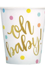'Oh Baby!' Paper Cups 8ct