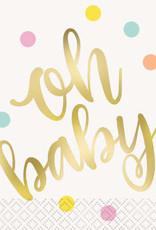 'Oh Baby!' Beverage Napkins 16ct