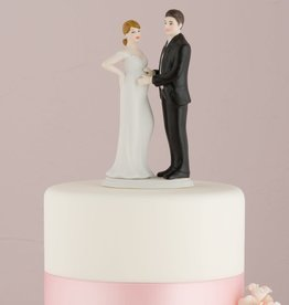 Expecting Wedding Couple Cake Topper