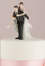 Bride and Groom Football Cake Topper