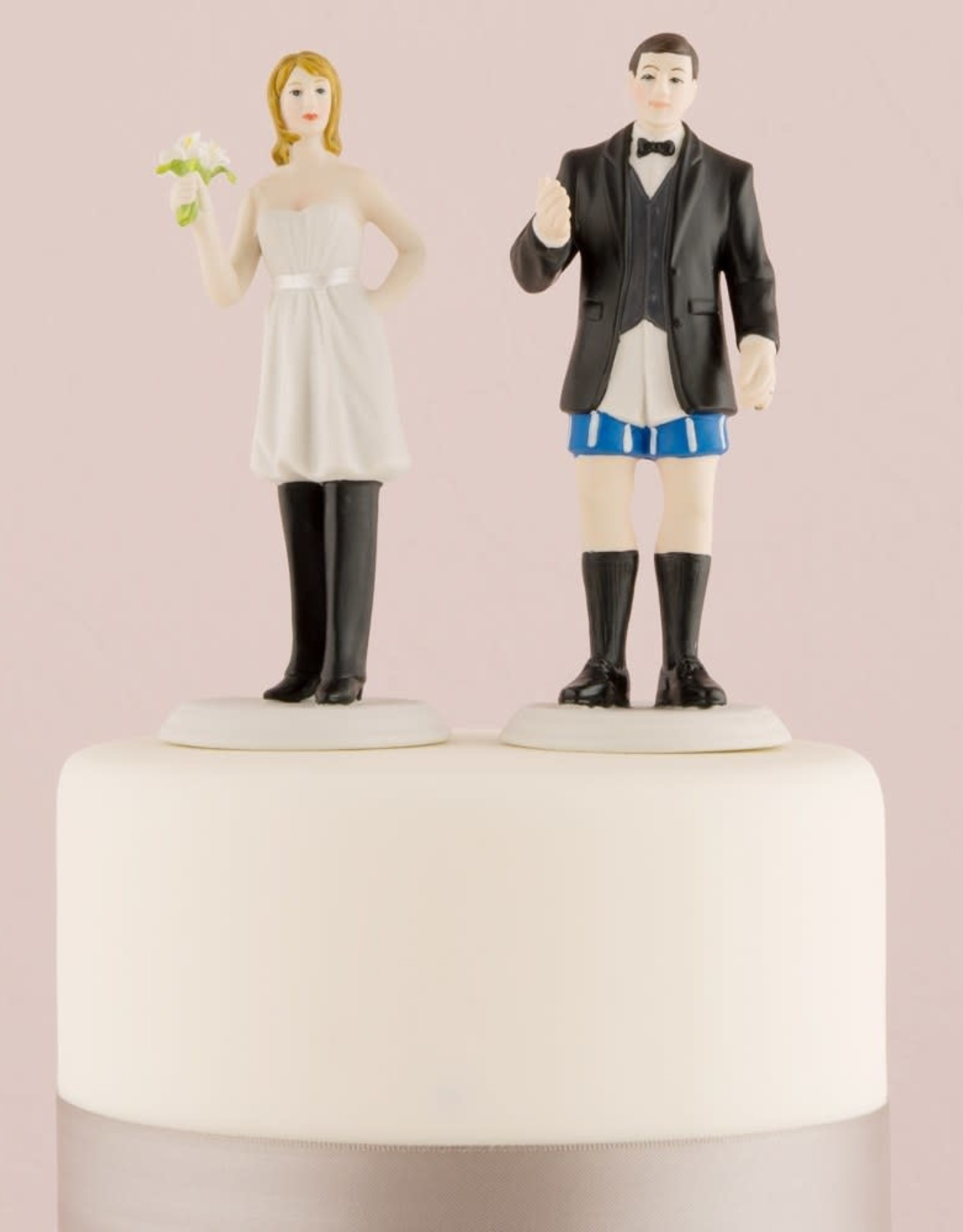 Bride Wearing The Pants Cake Topper
