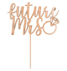 Rose Gold 'Future Mrs.' Cake Topper