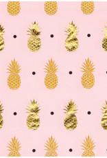 Pink Pineapple Beverage Napkins