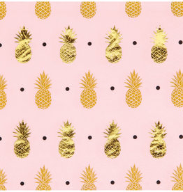 Pink Pineapple Beverage Napkins
