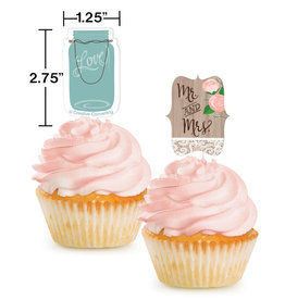 Mr and Mrs Cupcake Picks