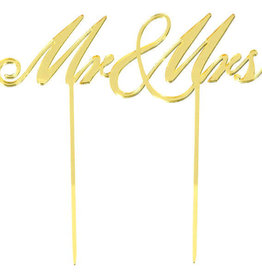 Mr and Mrs Gold Cake Topper
