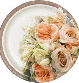 "Bridal Dessert 7"" Floral Plates"