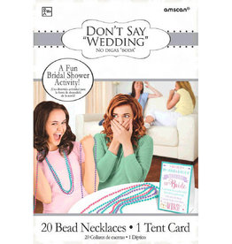Don't Say 'Wedding' Game