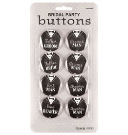 Team Groom Buttons 8CT