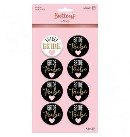 Bride Buttons 8pk