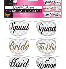 Bride Squad Glasses 6CT