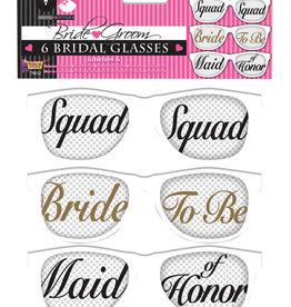 Bride Squad Glasses 6CT