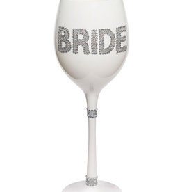 Bride White Gem Wine Glass