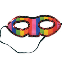 Sequins Rainbow Mask