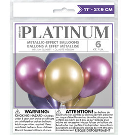 Pink, Purple and Gold Platinum Latex 6ct