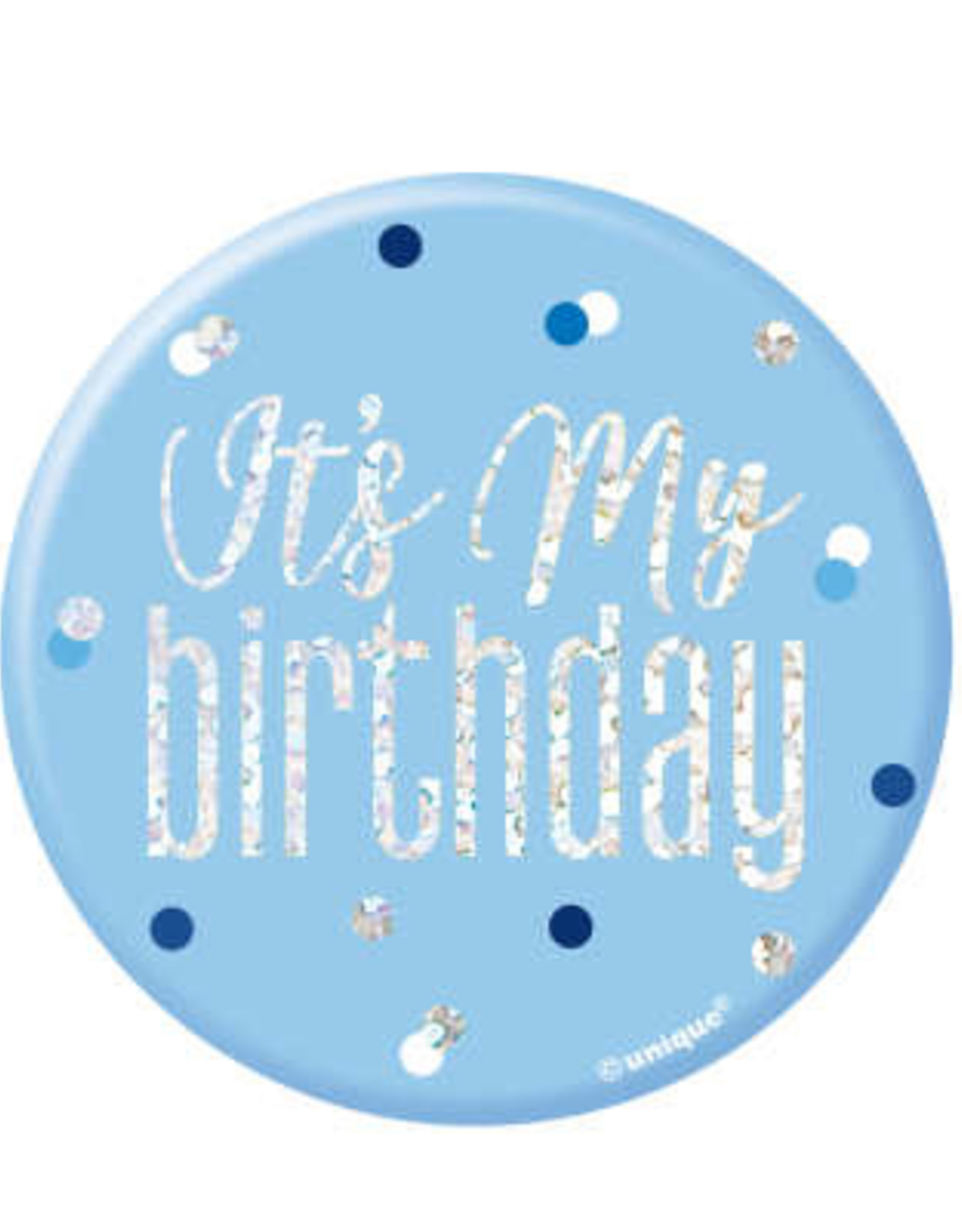 Glitz Blue 'It's My Birthday' Pin