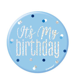 Glitz Blue 'It's My Birthday' Pin