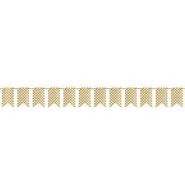 Gold Polka Dot Glitter Pennant Banner 20FT