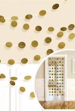 Glitter Gold Polka Dot String Decorations