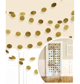 Glitter Gold Polka Dot String Decorations