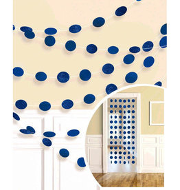 Glitter Blue Polka Dot String Decorations