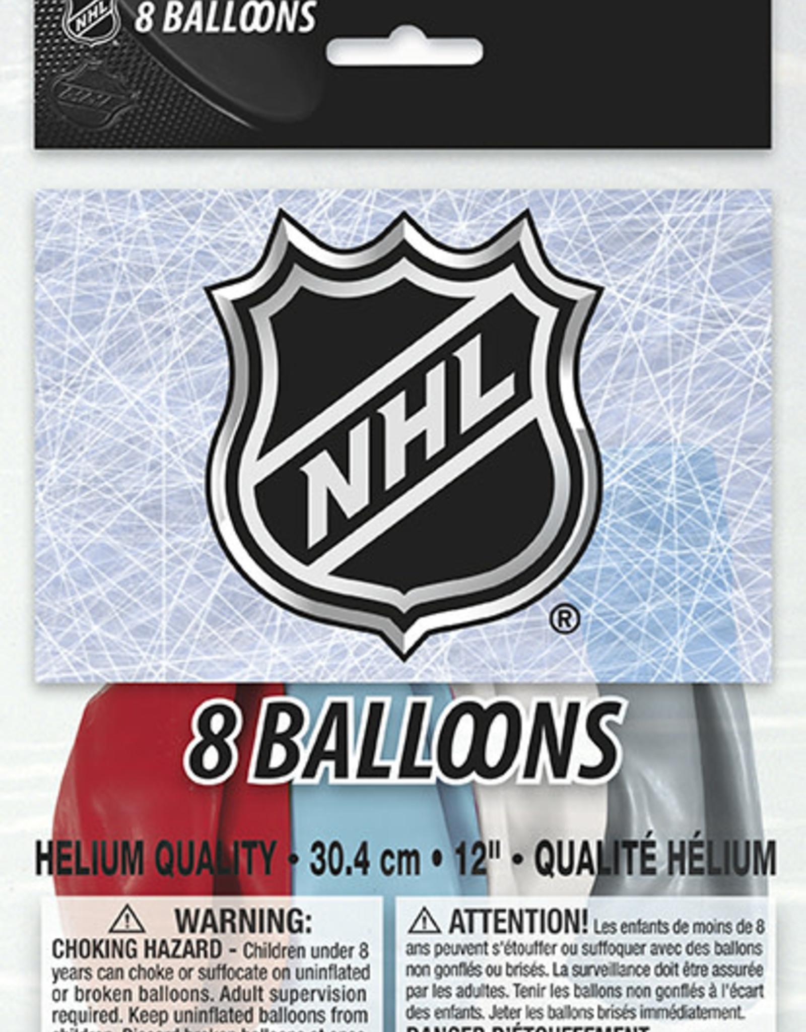 "NHL Logo 12"" Latex Balloons 8ct"