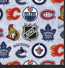NHL Beverage Napkins 16ct