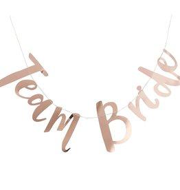 Team Bride Rose Gold Banner 5FT