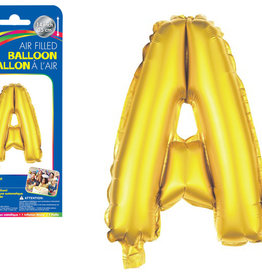 """Gold Letter A Balloon (14"""" Air Filled)"""