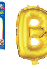 """let's Party Gold Letter B Balloon (14"""" Air Filled)"""