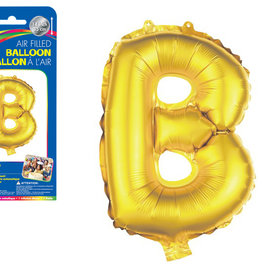 """Gold Letter B Balloon (14"""" Air Filled)"""