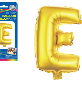 """let's Party Gold Letter E Balloon (14"""" Air Filled)"""