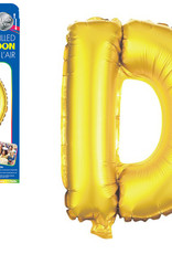 """let's Party Gold Letter D Balloon (14"""" Air Filled)"""