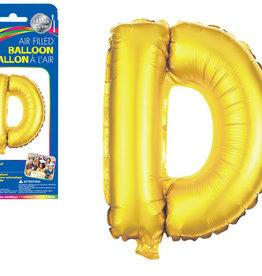 "Gold Letter D Balloon (14"" Air Filled)"