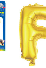 "let's Party Gold Letter F Balloon (14"" Air Filled)"