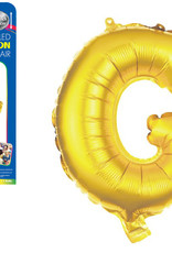 """let's Party Gold Letter G Balloon (14"""" Air Filled)"""