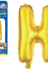 """let's Party Gold Letter H Balloon (14"""" Air Filled)"""