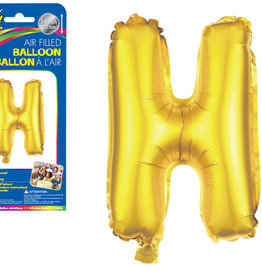 "let's Party Gold Letter H Balloon (14"" Air Filled)"
