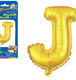 "let's Party Gold Letter J Balloon (14"" Air Filled)"