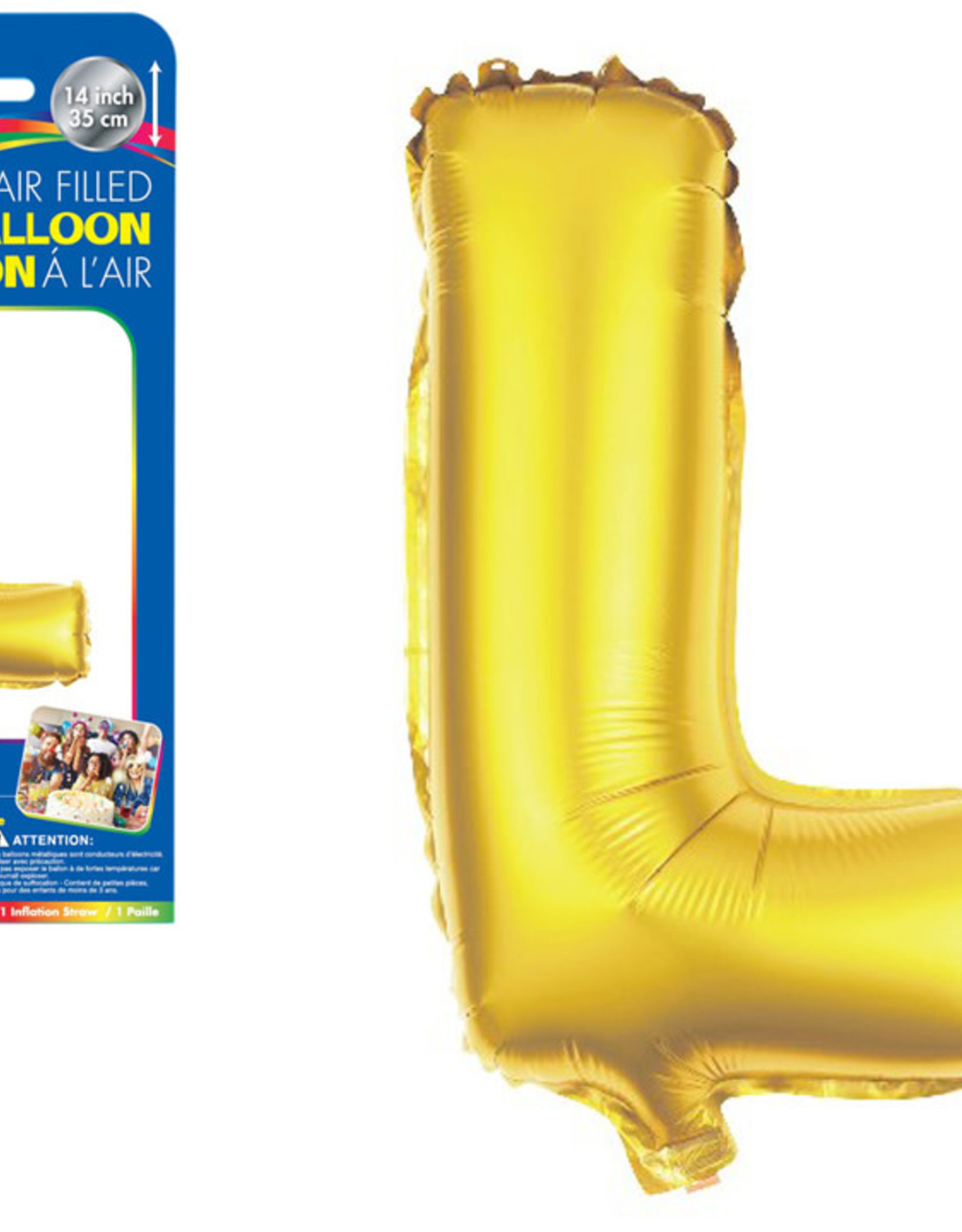 "let's Party Gold Letter L Balloon (14"" Air Filled)"