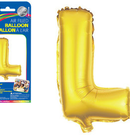 """Gold Letter L Balloon (14"""" Air Filled)"""
