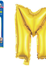 """let's Party Gold Letter M Balloon (14"""" Air Filled)"""