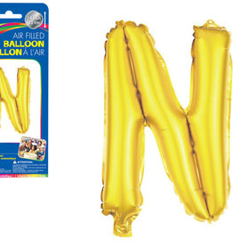 "let's Party Gold Letter N Balloon (14"" Air Filled)"