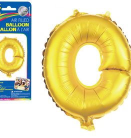 """Gold Letter O Balloon (14"""" Air Filled)"""