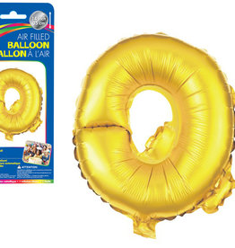"let's Party Gold Letter Q Balloon (14"" Air Filled)"
