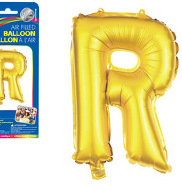 """Gold Letter R Balloon (14"""" Air Filled)"""
