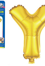 "let's Party Gold Letter Y Balloon (14"" Air Filled)"